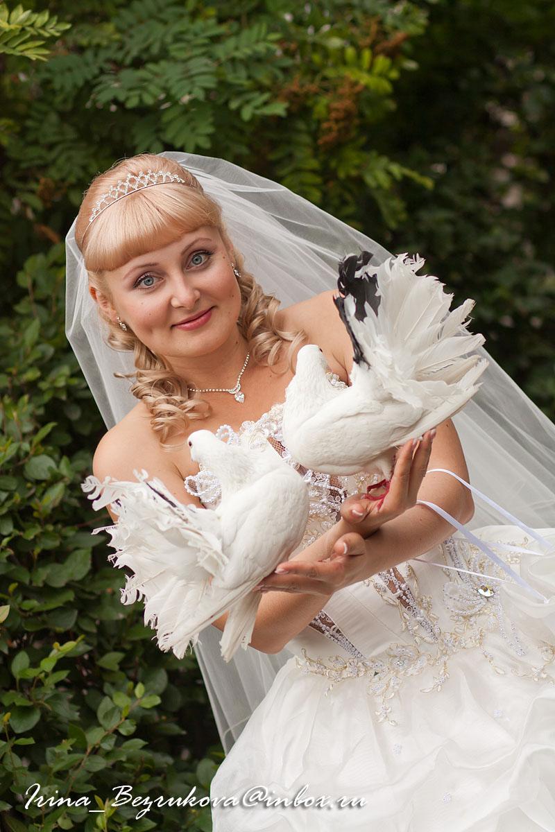 Невеста. Портрет с голубями.